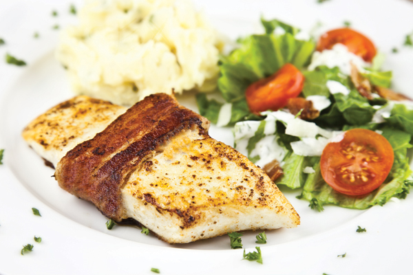Bacon-Wrapped Halibut