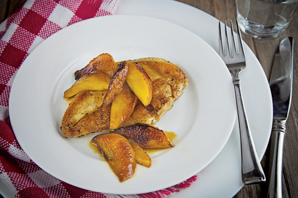 Caramelized Chicken with Apples