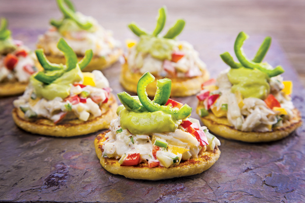 Crab Salad on Corn Blini