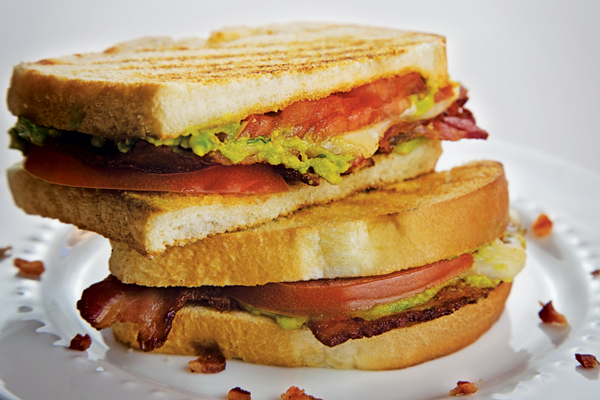 Grilled Cheese with Bacon, Avocado and Tomato
