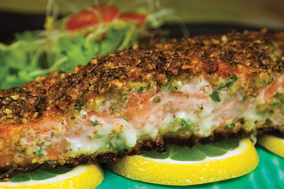 Hazelnut-Encrusted Wild Salmon Fillets
