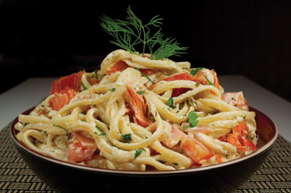 Healthy canned salmon pasta recipe