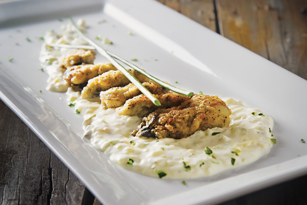Pan-Fried Oysters with Tartar Sauce