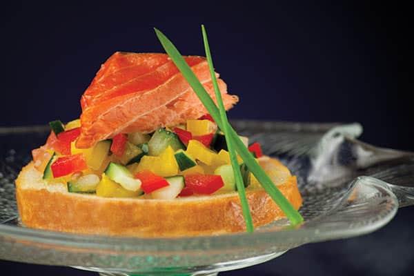 Summertime Salmon Bruschetta