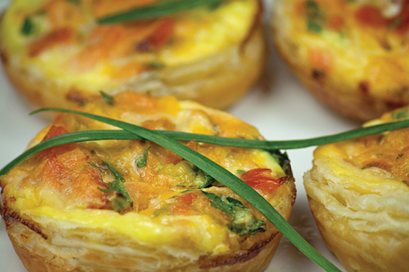 Mini Salmon and Herb Quiches