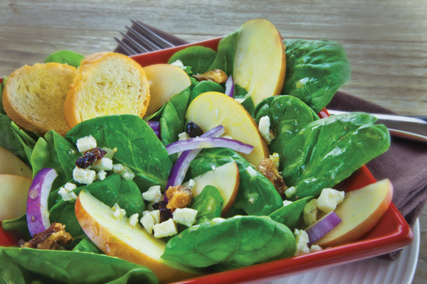 Apple and Spinach Salad