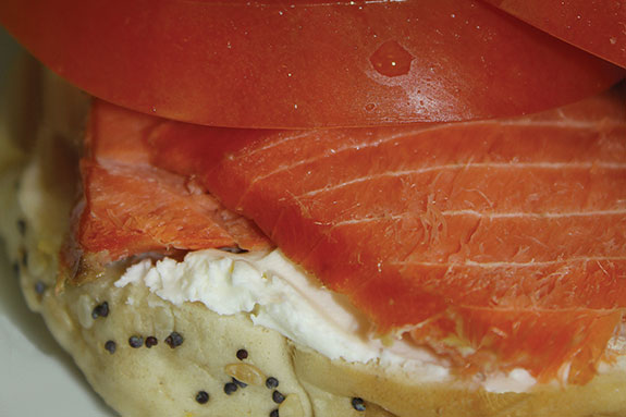 Bagel with smoked salmon