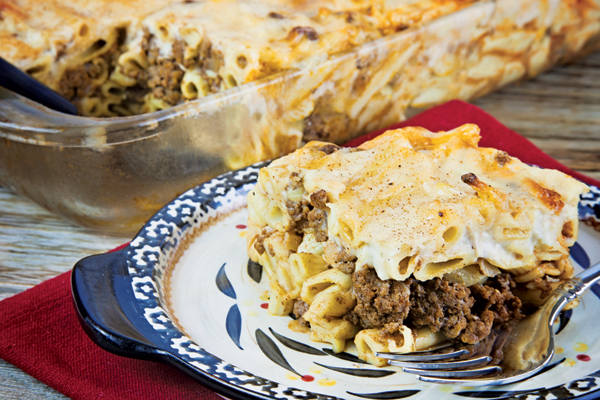 Baked Pasta with Bechamel Topping