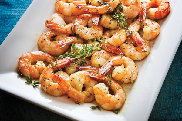 Roasted Shrimp with Rosemary and Thyme