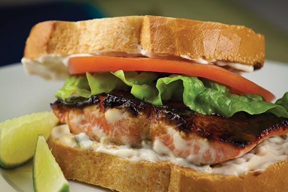 Spicy Wild Salmon Sandwich